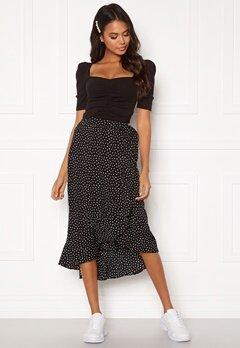 BUBBLEROOM Villima midi skirt Black / White / Dotted Bubbleroom.fi