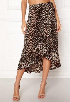 BUBBLEROOM Villima midi skirt Leopard Bubbleroom.fi