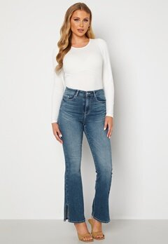 BUBBLEROOM Wendy side slit jeans Medium denim bubbleroom.fi