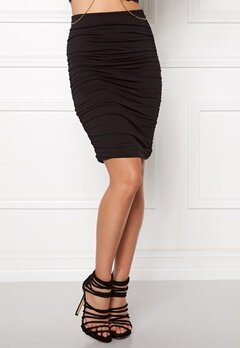 BUBBLEROOM Wrinkled skirt Black Bubbleroom.fi