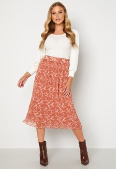 BUBBLEROOM Zarie pleated skirt Dusty pink / Floral Bubbleroom.fi