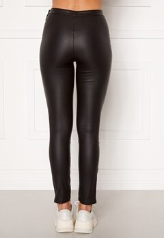 BUBBLEROOM Brienne coated zip leggings Black Bubbleroom.fi