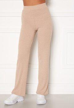 BUBBLEROOM Miley knitted trousers Beige Bubbleroom.fi