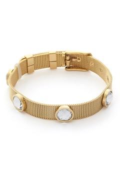 BY JOLIMA Adele Crystal Bracelet Crystal Gold Bubbleroom.fi