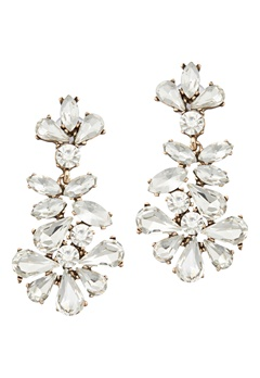 BY JOLIMA Caroline Crystal Earring Crystal Bubbleroom.fi