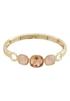 BY JOLIMA Glam Bangle Bracelet Champagne Gold Bubbleroom.fi