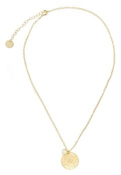 BY JOLIMA Spinn Crystal Necklace Gold Bubbleroom.fi