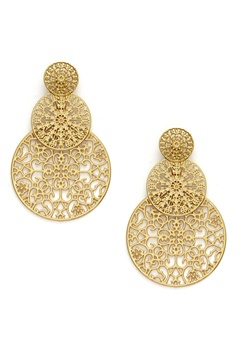 BY JOLIMA Spinn Triple Earring Gold Bubbleroom.fi