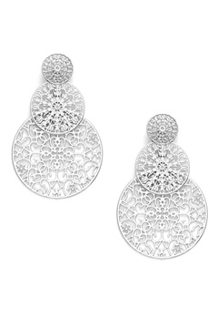 BY JOLIMA Spinn Triple Earring Silver Bubbleroom.fi