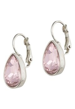 BY JOLIMA Tear Drop Earring Light Rose Silver Bubbleroom.fi
