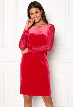 b.young Urbana Dress Crimson Red Bubbleroom.fi