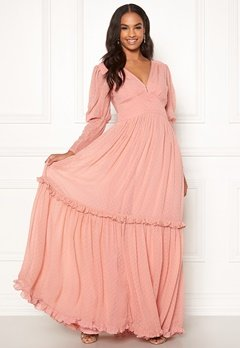 byTiMo Delicate Gown 477 Dusty Pink Bubbleroom.fi