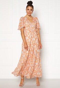 byTiMo Delicate Semi Wrap Gown Coral Bubbleroom.fi
