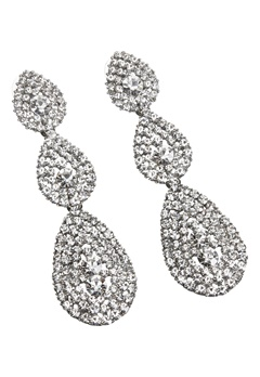 Love Rocks Byzanine Pave Earring Silver Colour Bubbleroom.fi