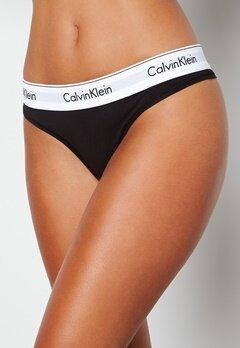 Calvin Klein CK Cotton Thong 001 Black bubbleroom.fi