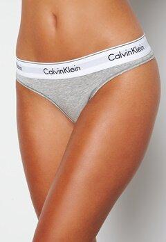 Calvin Klein CK Cotton Thong 020 Grey Heather bubbleroom.fi