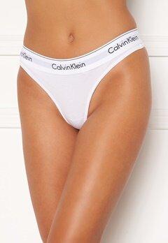 Calvin Klein CK Cotton Thong 100 Valkoinen Bubbleroom.fi