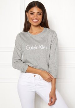 Calvin Klein CK L/S Crew Neck Grey Heather Bubbleroom.fi