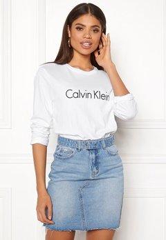 Calvin Klein CK L/S Crew Neck White Bubbleroom.fi