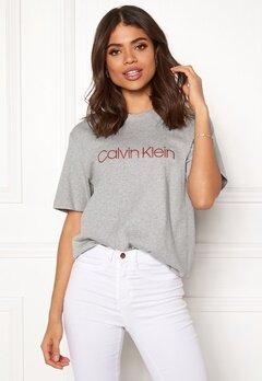 Calvin Klein CK S/S Crew Neck Grey Heather Bubbleroom.fi