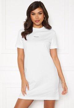 Calvin Klein Jeans Branding T-Shirt Dress Bright White Bubbleroom.fi