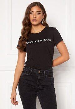 Calvin Klein Jeans Instit L Slim Fit Tee 099 CK Black Bubbleroom.fi