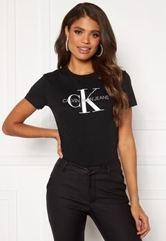 Calvin Klein Jeans Monogram Regular Fit Tee 099 CK Black Bubbleroom.fi