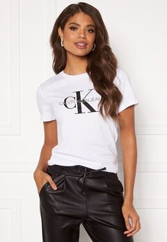 Calvin Klein Jeans Monogram Regular Fit Tee 112 Bright White Bubbleroom.fi
