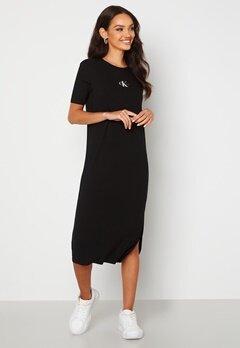 Calvin Klein Jeans Rib Maxi T-shirt Dress BEH Ck Black Bubbleroom.fi