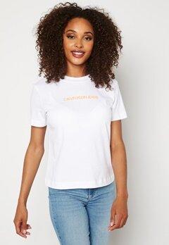 Calvin Klein Jeans Shrunken Institutional T YAF Bright White Bubbleroom.fi