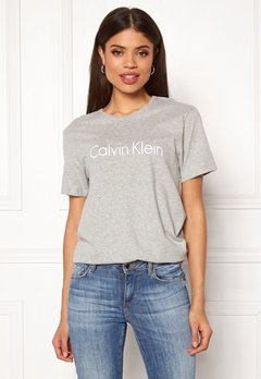 Calvin Klein S/S Crew Neck 020 Grey Heather Bubbleroom.fi