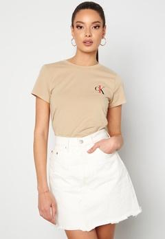 Calvin Klein S/S Crew Neck 0XG Charming Khaki Bubbleroom.fi