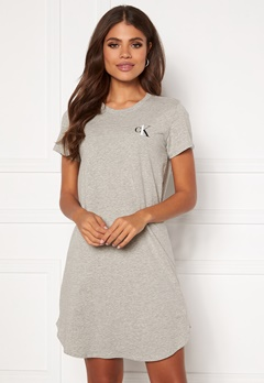 Calvin Klein S/S Nightshirt 020 Grey Heather Bubbleroom.fi