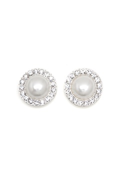 SNÖ of Sweden Carla Small Pearl Earring White Bubbleroom.fi