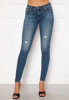 ONLY Carmen Life Reg Jeans Medium Blue Denim Bubbleroom.fi