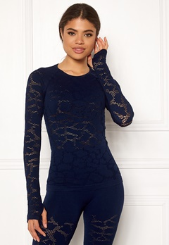 Casall Seamless Long Sleeve 043 Pushing Blue Bubbleroom.fi