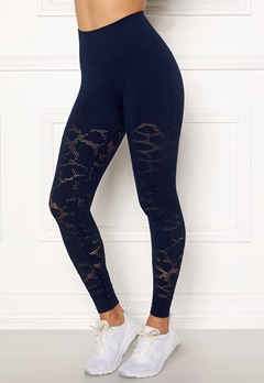 Casall Seamless Structure Tights 043 Pushing Blue Bubbleroom.fi