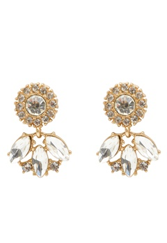 BY JOLIMA Celine Earring Crystal Bubbleroom.fi
