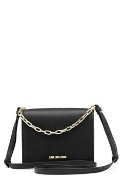 Love Moschino Chain Crossbody Bag 00B Black/Gold Bubbleroom.fi