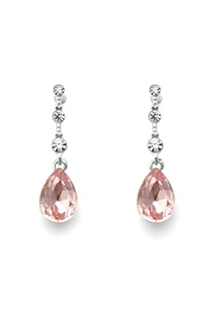 SNÖ of Sweden Charlene Long Earring S/Pink Bubbleroom.fi