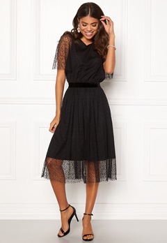 Y.A.S Charlotte SS Midi Dress Black Bubbleroom.fi