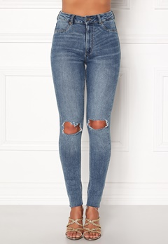 CHEAP MONDAY High Spray Cut Off Jeans Blue Bubbleroom.fi