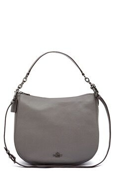 COACH Chelsey Leather Bag DKHGR Heather Grey Bubbleroom.fi