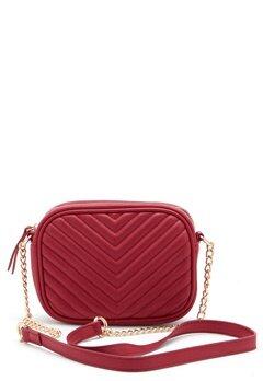 New Look Chevron Quilt Camera Bag Bright Red Bubbleroom.fi