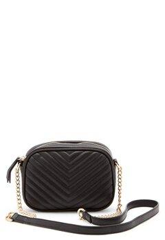 New Look Chevron Quilt Camera Bag Black Bubbleroom.fi