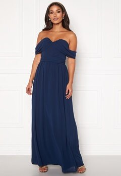 Chi Chi London Laine Maxi Dress Navy Bubbleroom.fi