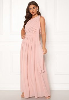 Chi Chi London Petra One Shoulder Dress Mink Bubbleroom.fi