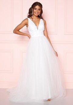 Chi Chi London Tremaine Lace Dress White Bubbleroom.fi