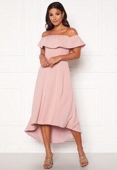 Chi Chi London Wanda Bardot Dress Mink Bubbleroom.fi