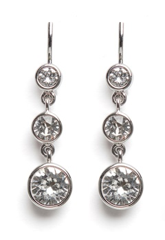 Dyrberg/Kern Chia Earrings Crystal Bubbleroom.fi